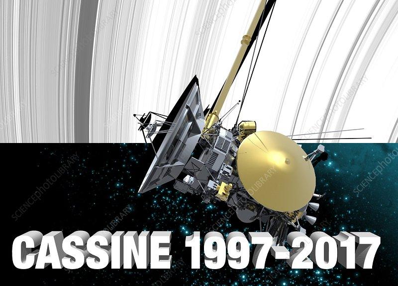 Cassini spacecraft, illustration., illustration