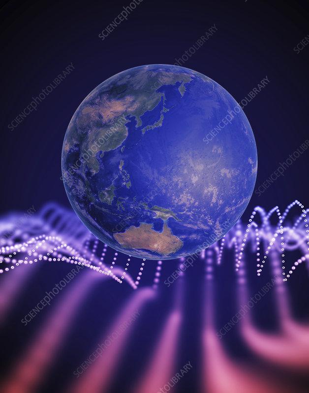 Global connectivity, illustration