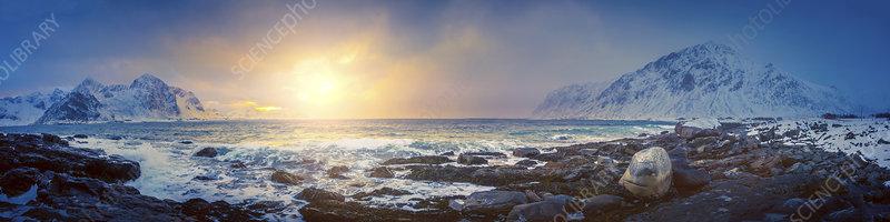 Coastal landscape, Norway