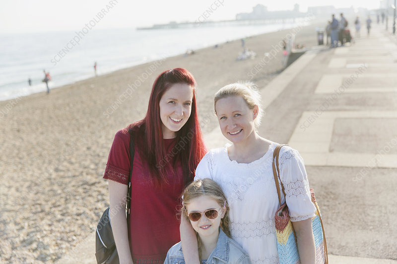 Portrait lesbian couple and daughter