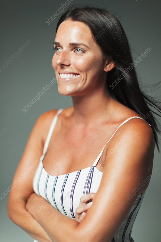 Portrait woman looking away