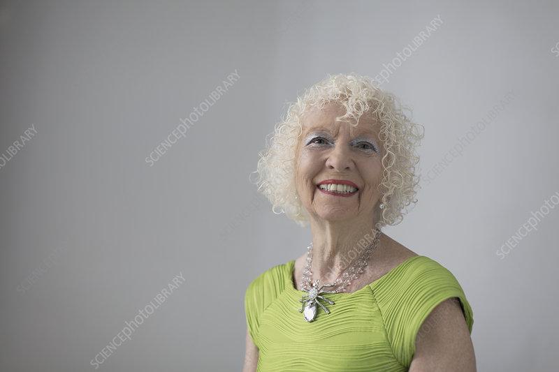 Portrait carefree, senior woman