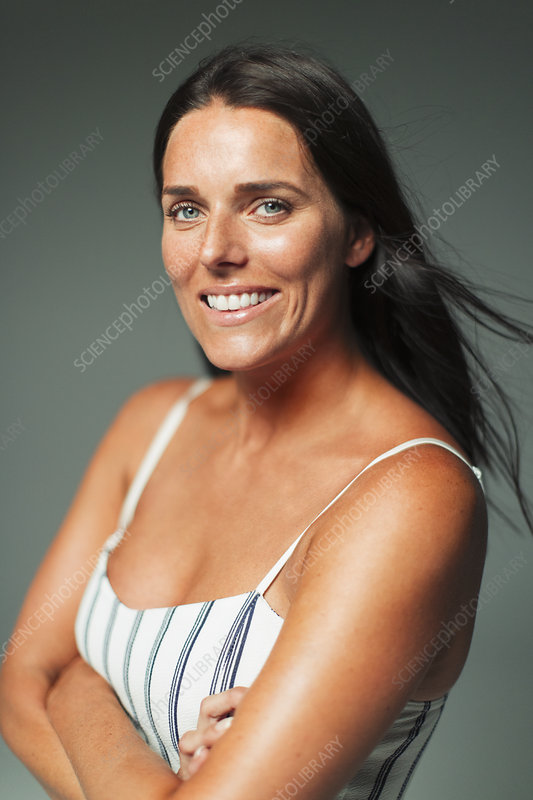 Portrait smiling woman