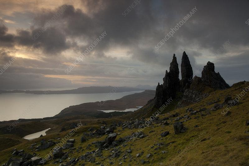 Old Man of Storr at dawn, Skye, Inner Hebrides, Scotland, UK