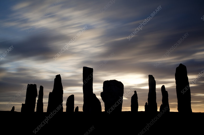 Callanish Stones silhouette at sunrise