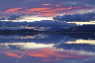 Sunset over Loch Insh, Cairngorms National Park, Scotland