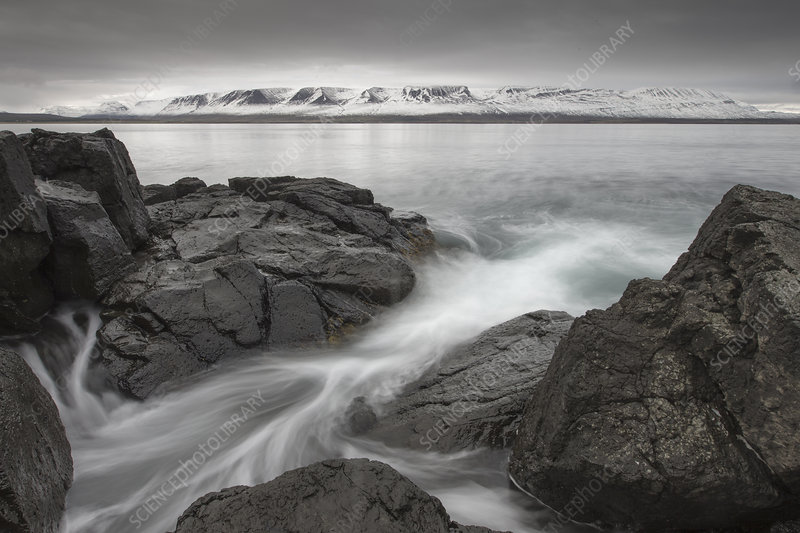 View across Eyjafjordur in late autumn, Iceland