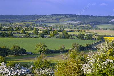 Dagnall village, Gade Valley Hertfordshire, UK
