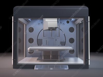 Illustration of a 3d printer