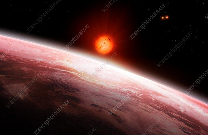 Exoplanet Gliese 667c, illustration