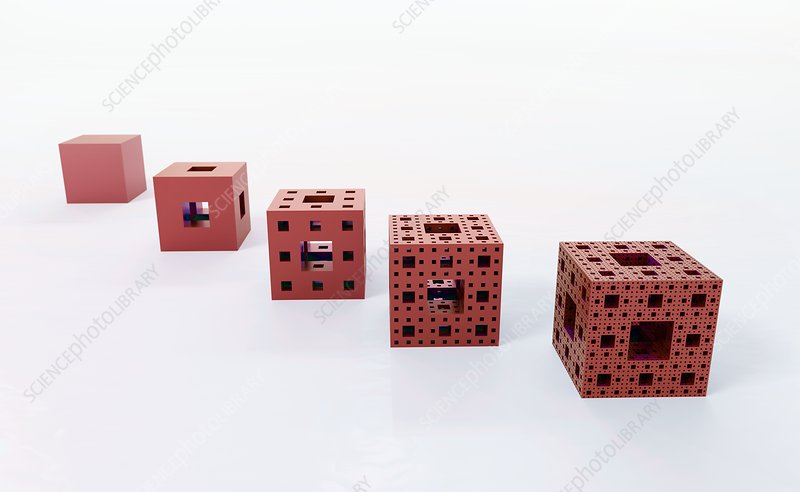 Construction of Menger sponge, illustration