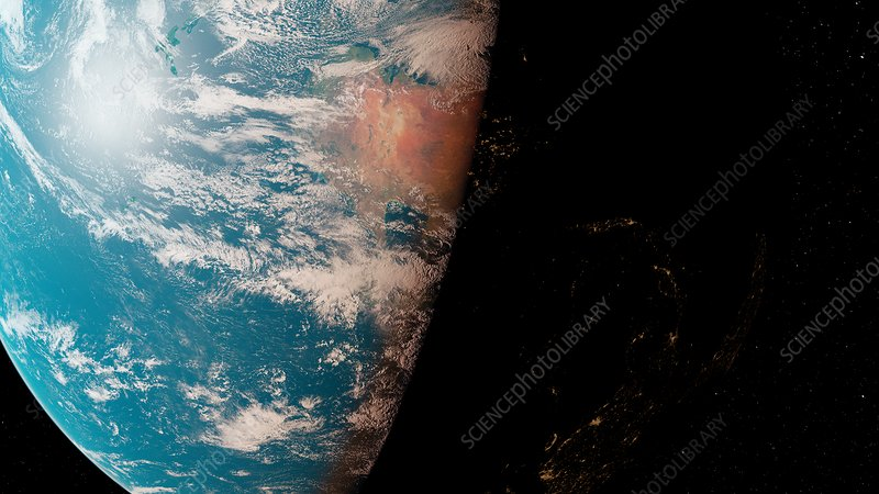 Illustration of the Earth from space