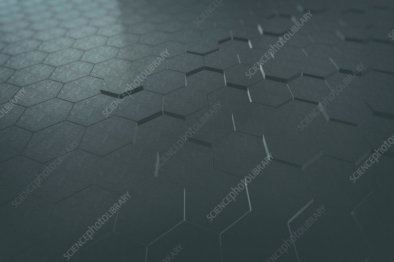 Dark hexagon pattern, illustration