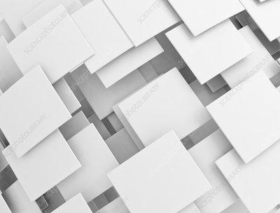 Overlapping white squares, illustration