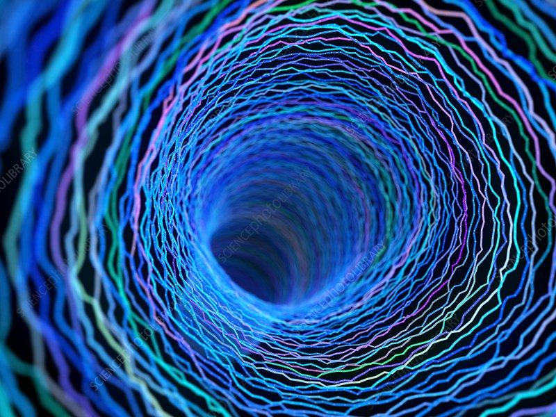 Illustration of an abstract plexus tunnel