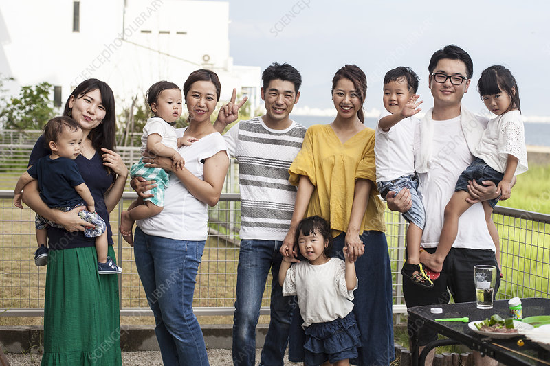Japanese families with young children