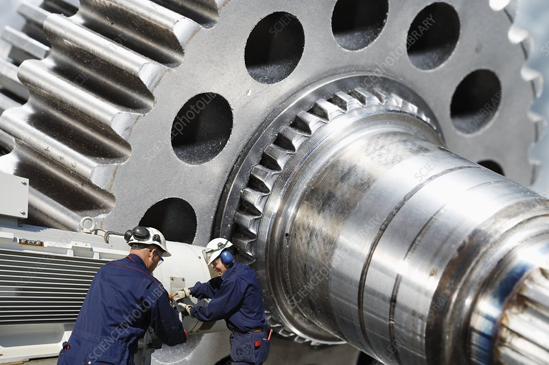 Engineering parts and workers