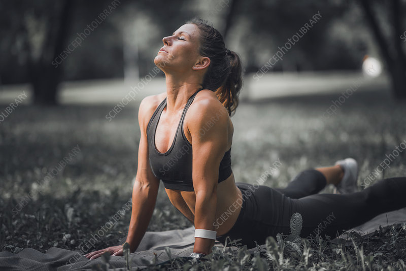 Woman stretching after exercise