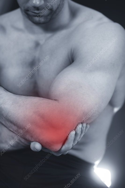 Elbow pain, conceptual image