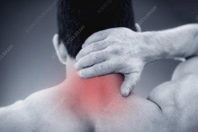 Neck pain, conceptual image