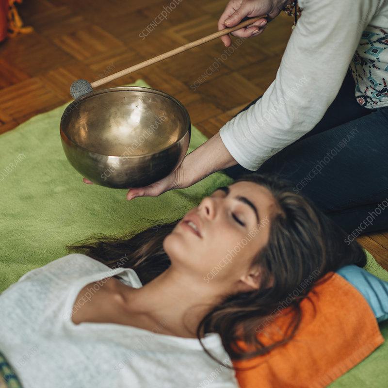 Tibetan singing bowl therapy