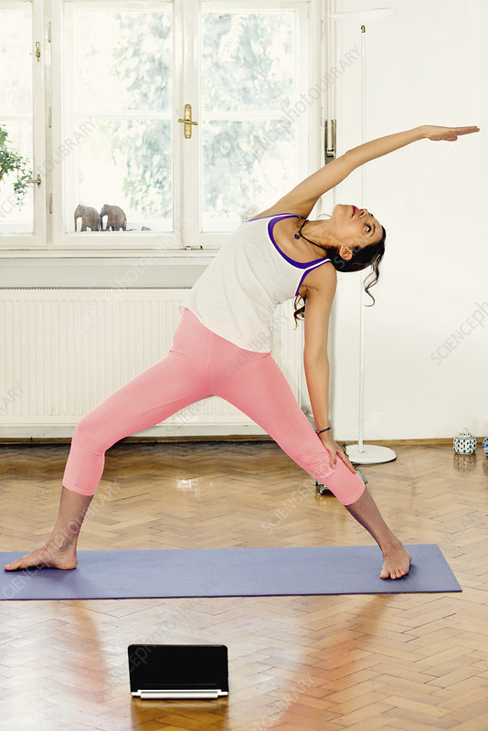 Yoga extended triangle pose