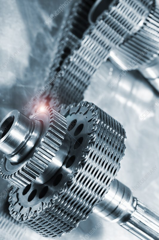 Gears powered by a timing chain