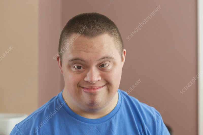 Teen boy with Down Syndrome