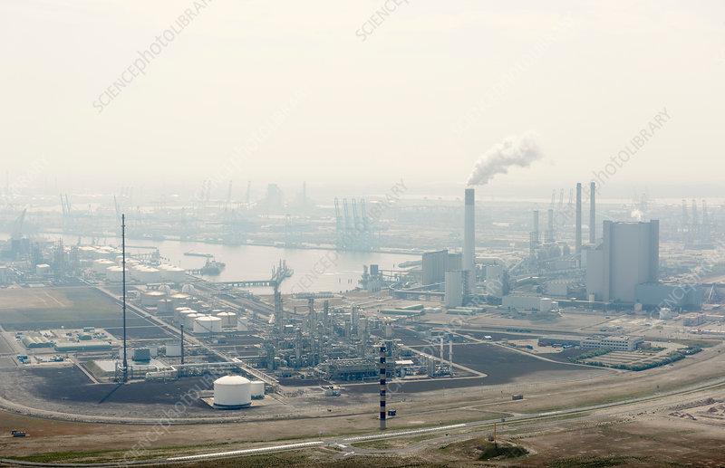 The Maasvlakte industrial area, Rotterdam harbour
