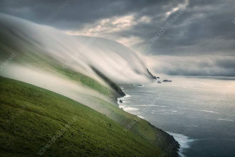 Floating sea fog, Blasket Islands, Ireland