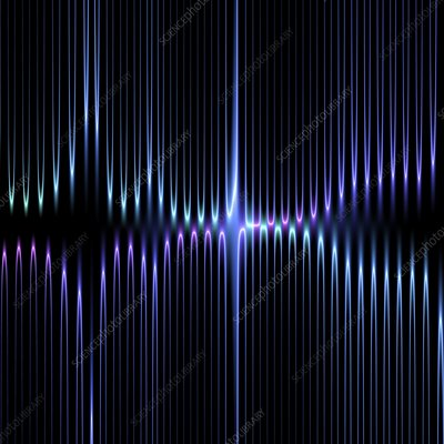 Illuminated lines, illustration