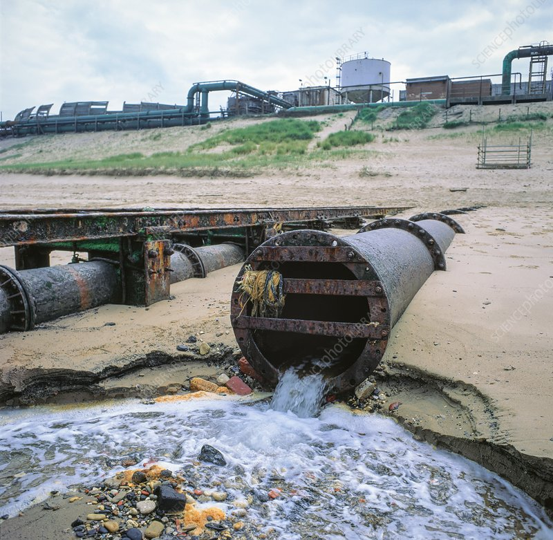 Outflow to sea from chemical works