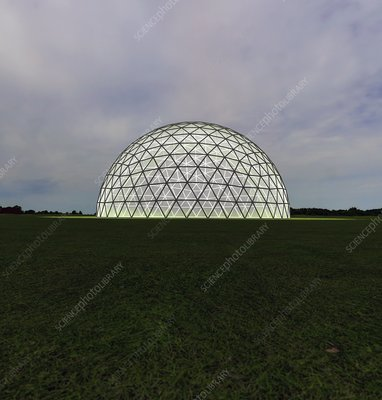 Geodesic dome, illustration