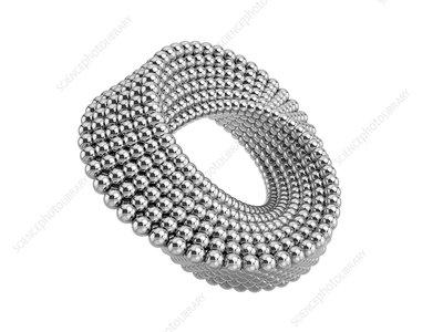 Mobius band of metal ball, illustration