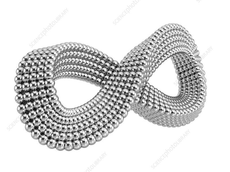 Infinity sign of metal balls, illustration