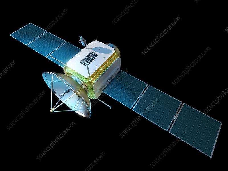 Communications satellite, illustration