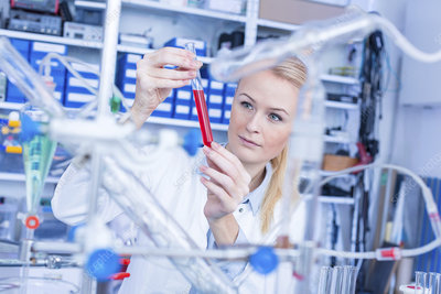 Researcher in chemistry lab