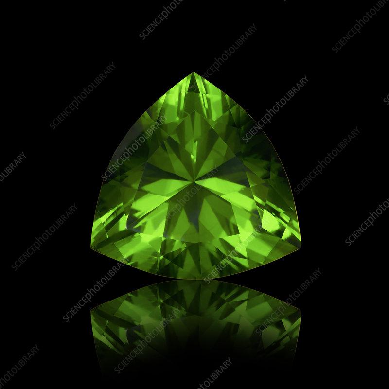Trillion cut emerald