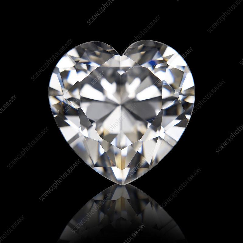 Heart cut diamond
