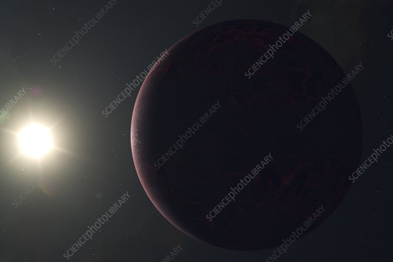 Hot exoplanet, illustration