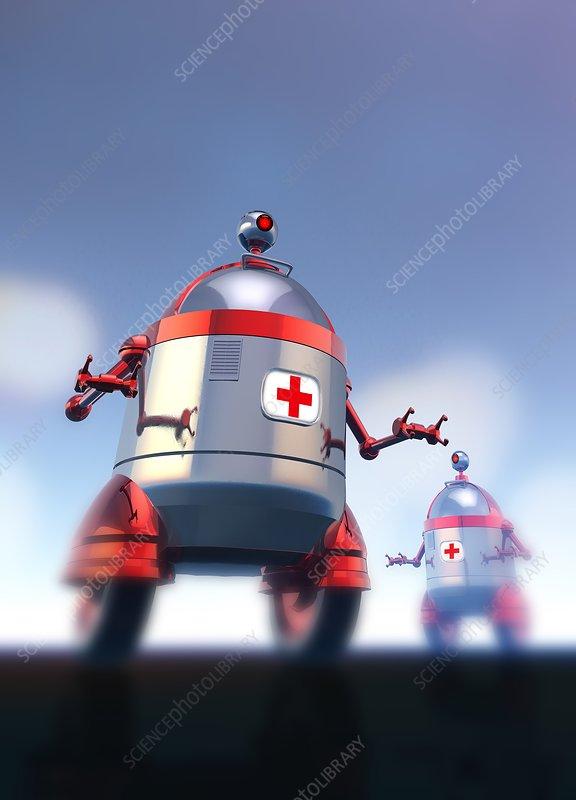 Medical robots, illustration
