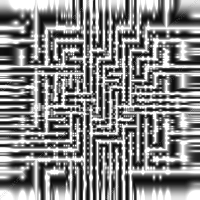 Abstract circuits, illustration