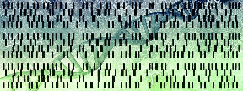 Genetic research, conceptual illustration