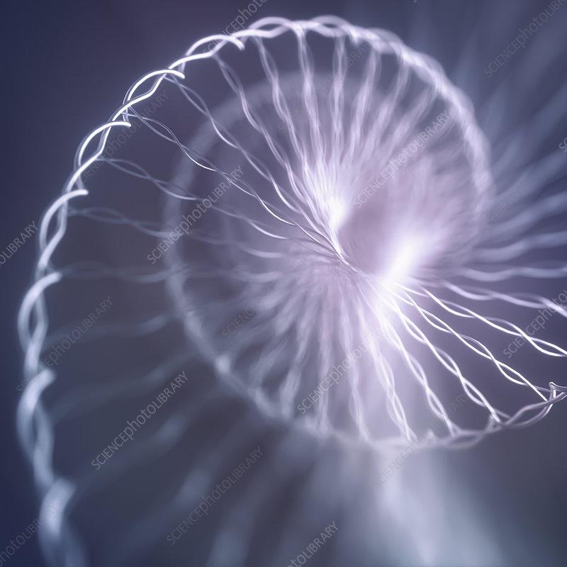 DNA molecule, conceptual illustration