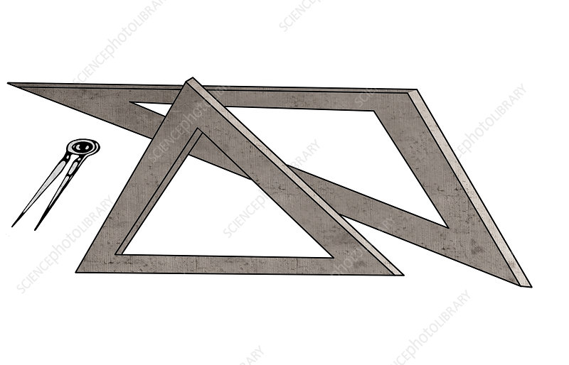 Geometry, conceptual illustration