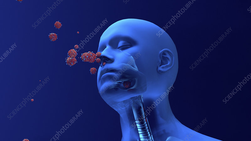 Coronavirus infection, conceptual illustration