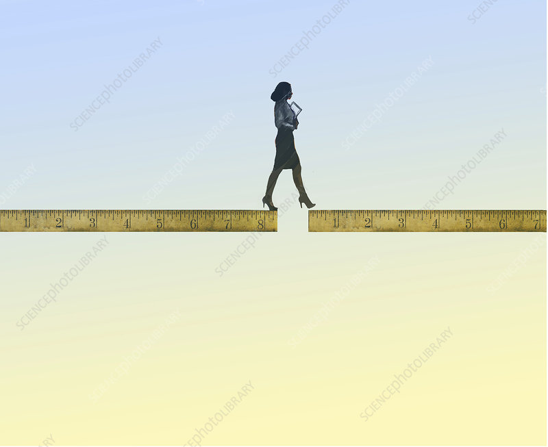 Career gap, conceptual illustration