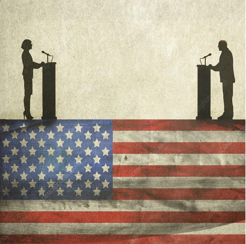 American politics, conceptual illustration