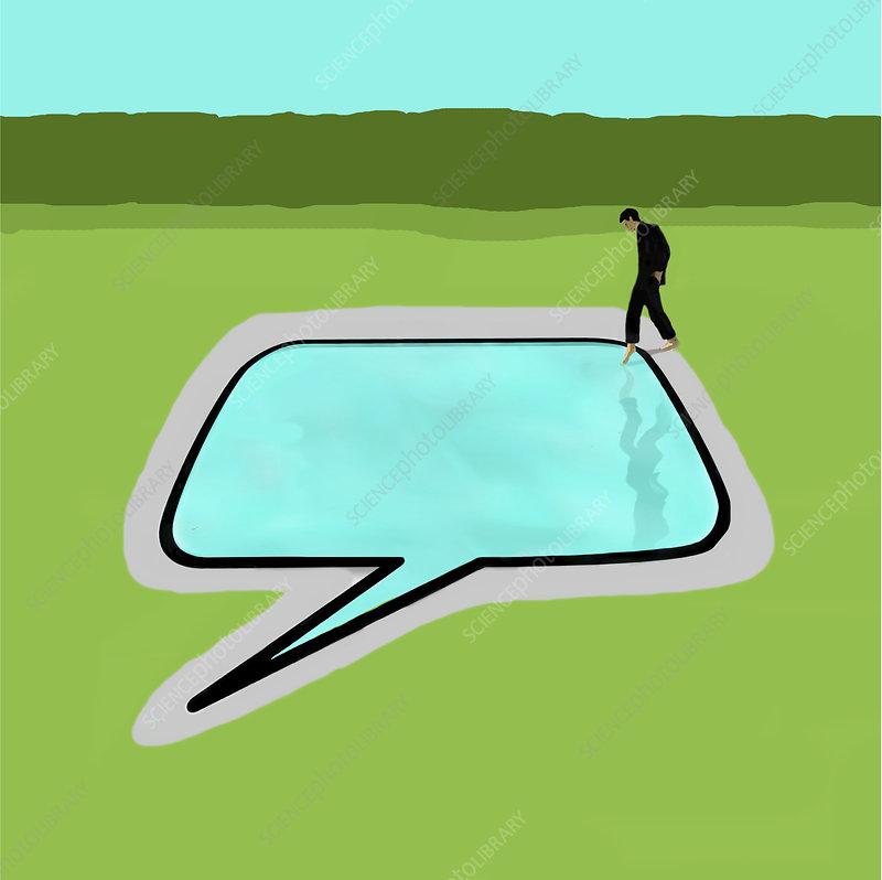 Shyness, conceptual illustration