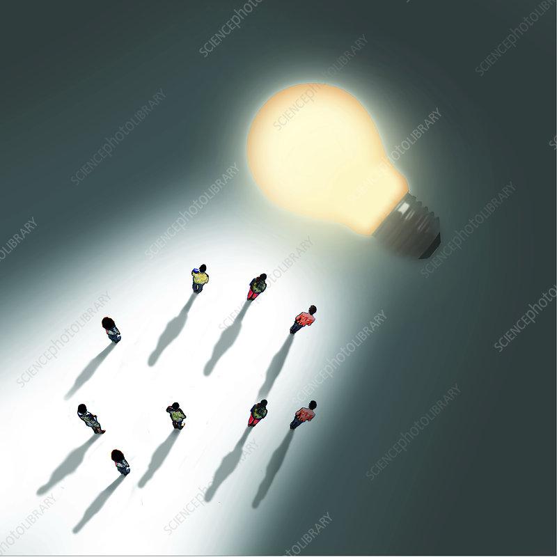Knowledge, conceptual illustration